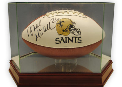 Saints Football signed by Deuce McAllister